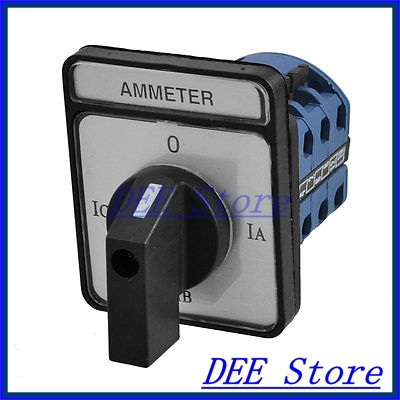 On-On-On-Off Control 12 Terminals Rotary Changeover Cam Switch 12A ui660v ith125a 12 terminals 3p combination changeover switch lw28 125 3
