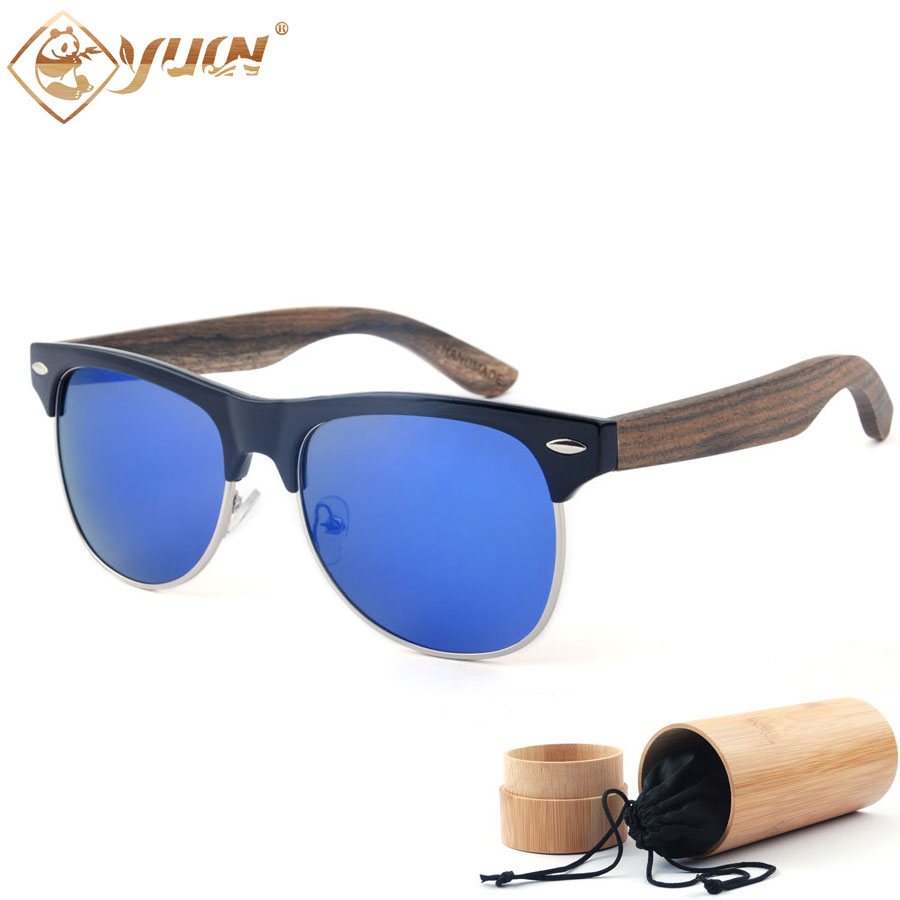 New 2017 Brand Designer Sunglasses Handmade Wood Arms Polarized Driving Sun Glasses For Men and Women Shade Eyewear 1503