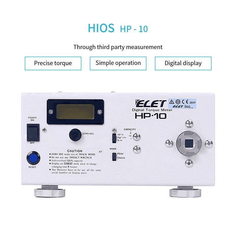HP-10 Torque Chave De Fenda Elétrica Tester Força Digital Bitola Métrica Com Dispositivo Anti-choque Instrumentos De Medição Simples Operação