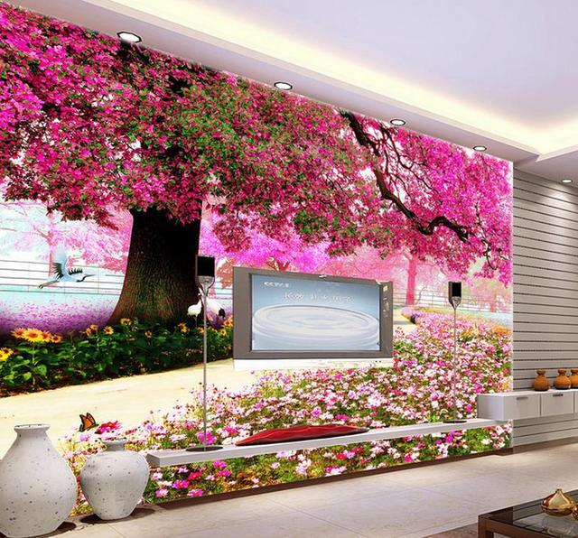3d wallpaper fashion 3d mural cherry tree for tv sofa background 3d wallpaper fashion 3d mural cherry tree for tv sofa background wedding decoration wall junglespirit Choice Image