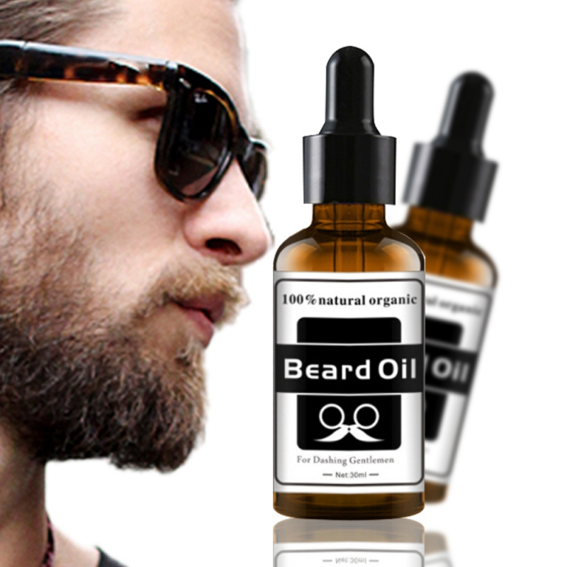 Beard Growth Oil Beards Hair Thicker Essence Mustache Thick Sideburn Treatment Sunburst Alopecia Serum Product Beard Shaping image
