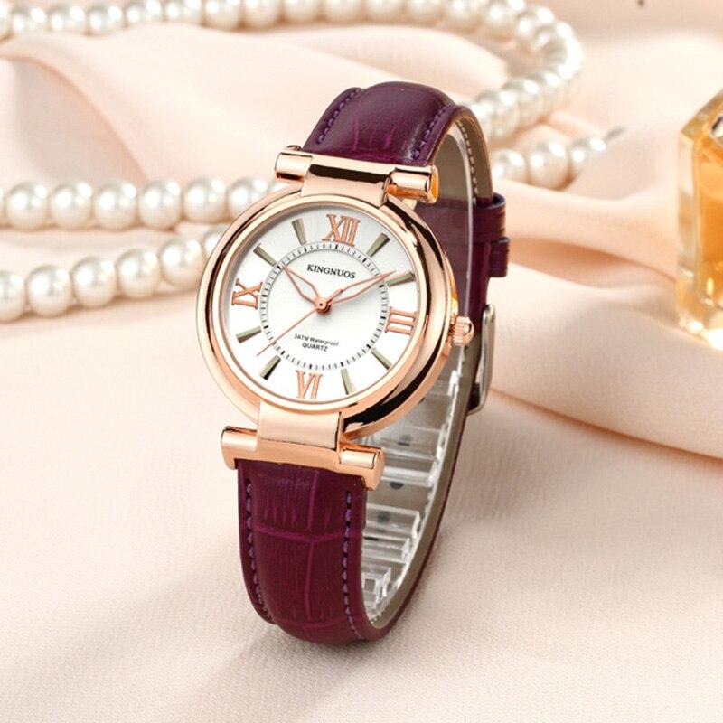 Fashion Rose gold Dial Zegarki damskie Luksusowe romantyczne - Zegarki damskie - Zdjęcie 3