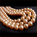 "Wholesale AA+ 6.5-7.5mm Near Round genuine gold freshwater Pearl loose beads strand 15"" Free shipping"