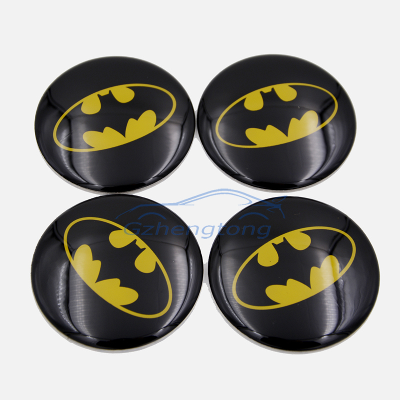 The Dark Knight Batman logo Car Covers auto Steering Wheel Center Hub Cap Emblem Badge Decal Symbol Stickers for BMW Adui Nissan