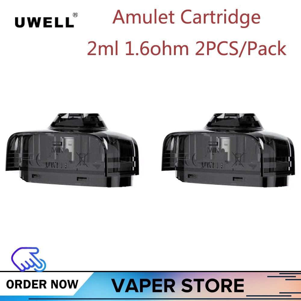 2-10pcs Original UWELL Amulet Cartridge 2ml 1.6ohm 2PCS/Pack Fit For Uwell Amulet VAPE Pod KIT World First Watch-Style Pod