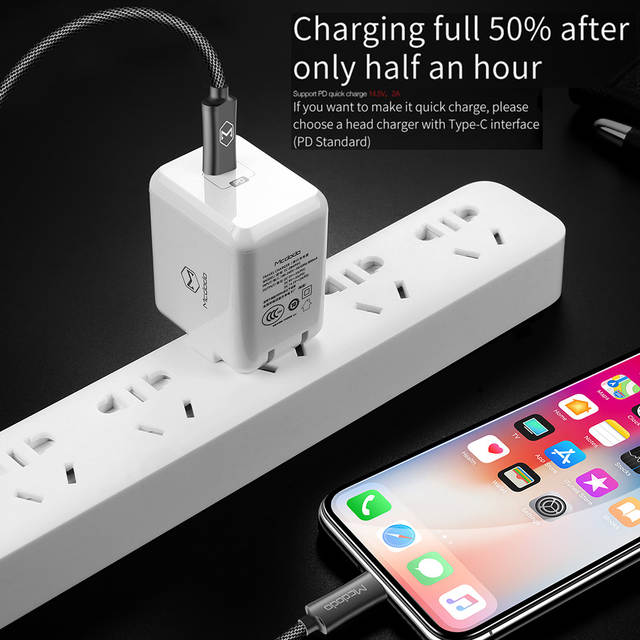 Mcdodo USB C Lightning to Type c Cable PD 18W Fast Charging