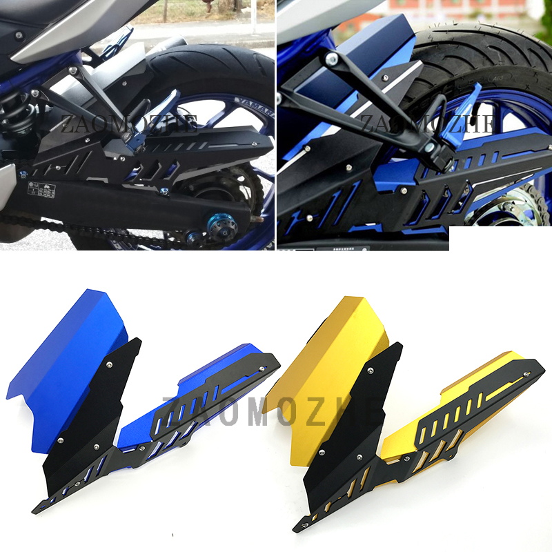 For YAMAHA YZF-R3 R25 2013 2014 2015 2016 2017 Motorcycle CNC Rear Fender Mudguard & Chain Guard Cover Kit MT03 2015 2016 2017