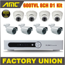 8 Channel CCTV System DVR Kit 600TVL Video Surveillance 4pcs Bullet 4pcs Dome Cameras CCTV Video Home Security Camera System 8ch