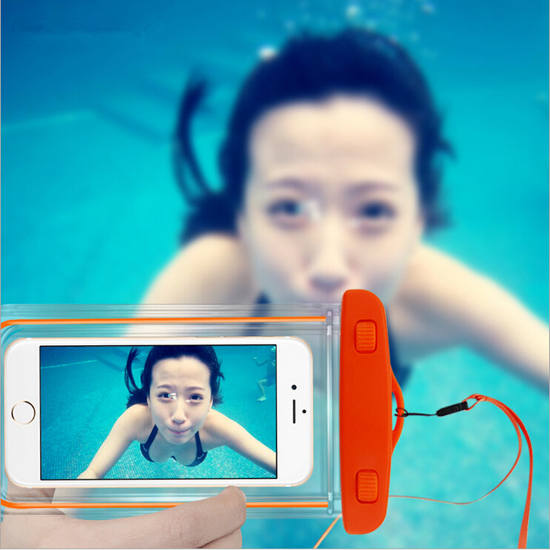 PVC Luminous Waterproof Phone Case Cover for Cell Phone Touchscreen Mobile iphone 6 Water Proof Underwater Transparent Pouch Bag