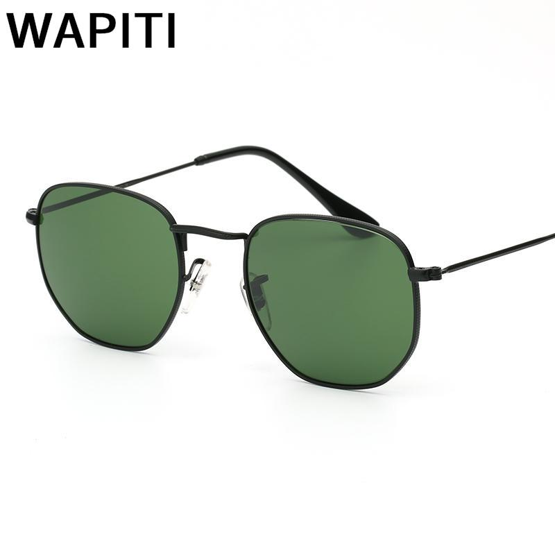 2018 Retro Hexagon Sunglasses Men Luxury Glass Sun Glases For Male Female Vintage Metal Frame Driving Fishing Oculos De Sol
