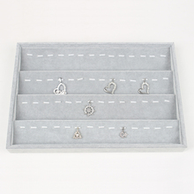 LAN LIN earrings receive tray gray velvet jewelry display tray fashion Jewelry Display Showstorage earring receive 35*24*3.5cm