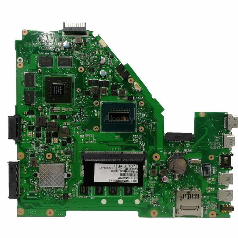 Akemy X550JK scheda madre del computer portatile Per For Asus X550JX X550JF X550JD X550JK X550J mainboard 4G-RAM I7-4720HQ/4710HQ GTX850M/4GB di RAM