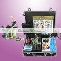 Eua despacho completa Tattoo Starter Kit 1 Machine Gun LCD poder agulhas dicas Grips Set de abastecimento
