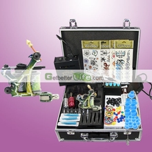 USA Dispatch Complete Starter Tattoo Kit 1 Machine Gun LCD Power Needles Tips Grips Set Equipment Supplies
