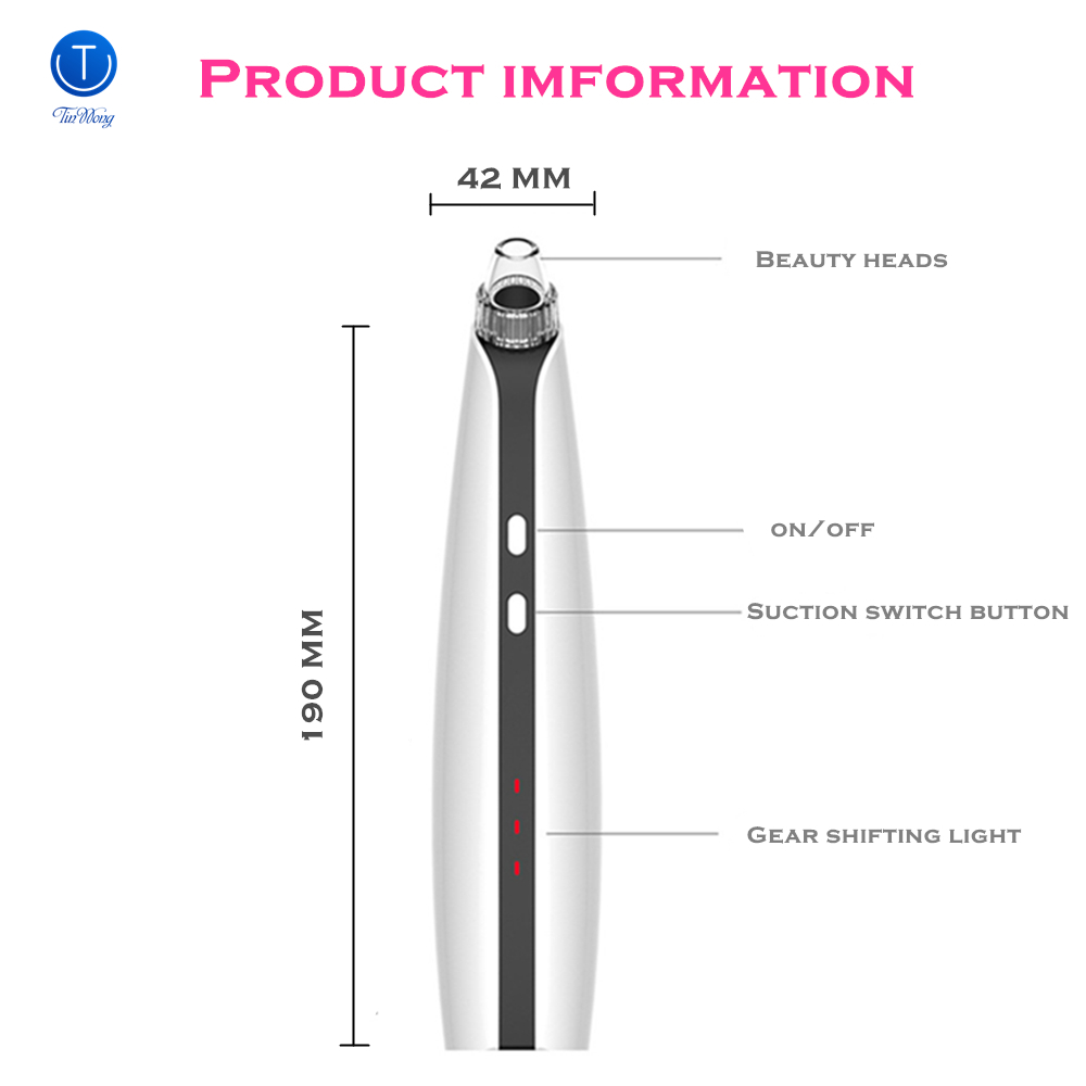 Купить с кэшбэком Simple Household Blackhead Instrument, Blackhead Vacuum Electric Pore Vacuum with Upgrade , 3 Model IPL Beauty Lamp Technology