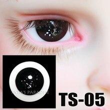 14mm 16mm black no pupil BJD Eyes Eyeballs for 1 3 1 4 1 6 BJD