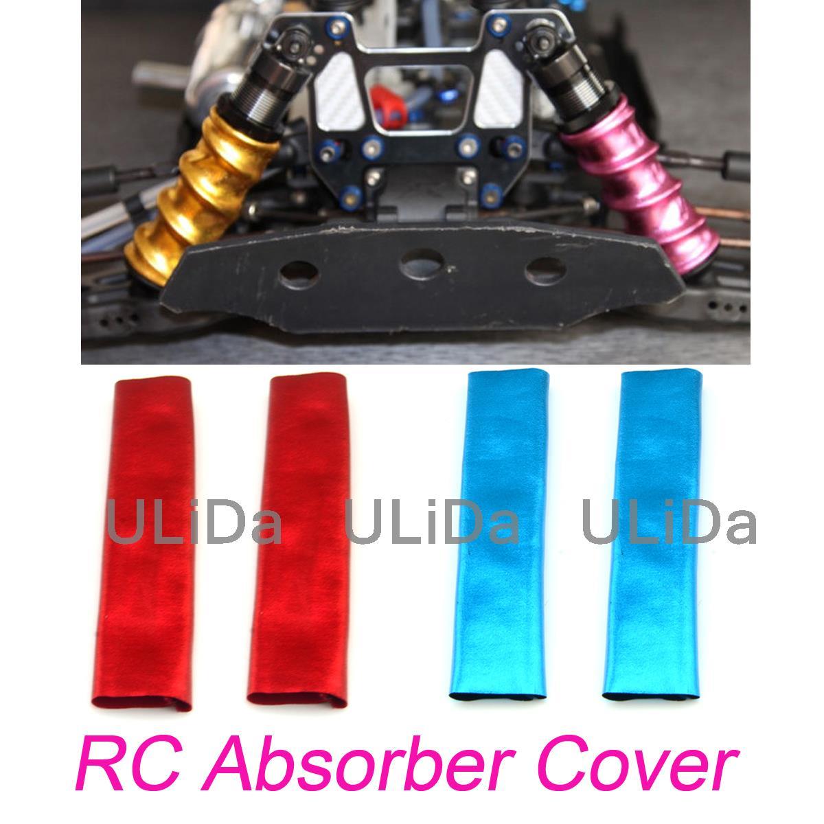 4Pcs/Set Shock Absorber Cover Dust-proof 1/8 Off Road Car Truck Buggy Monster RC Car Parts For HSP Hpi