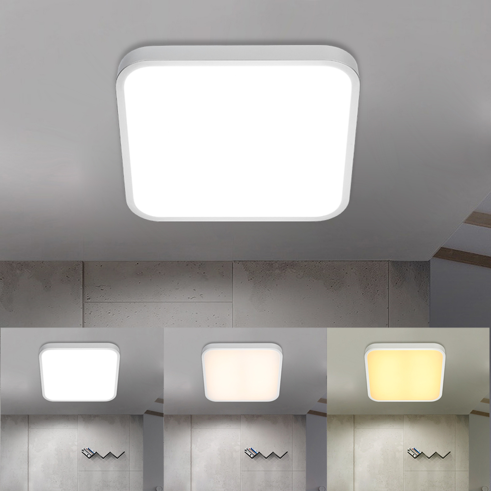 Modern 24w 30cmx30cm Square Led Ceiling Light Led Ceiling: Square Ceiling Lamp Modern LED Ceiling Light 24W Color