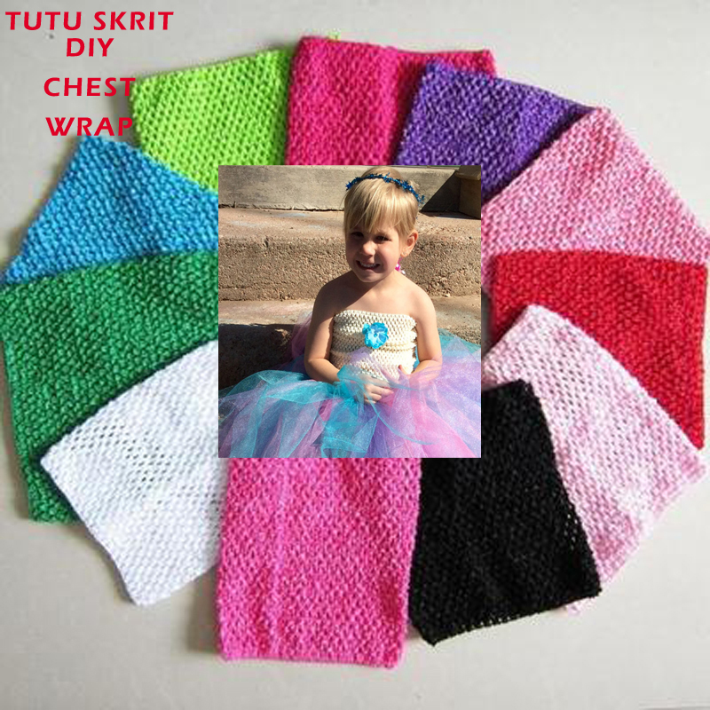 23 colores 15*15 cm bebé Niñas elástico crochet Tutu Tops de tubo ...