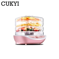 CUKYI Dried Fruit Vegetables Herb Meat Machine Household MINI Food Dehydrator Pet Meat Dehydrated 3 Trays