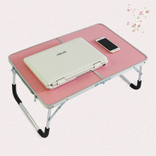 Folding Computer Desk Multifunctional Foldable Table Dormitory Bed Notebook Small Desk Picnic Table Laptop Bed Tray