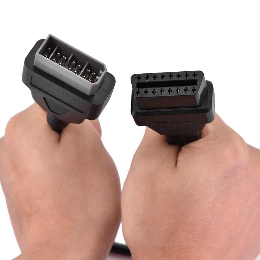 Для Nissan 14Pin до 16pin OBD OBD2 разъем диагностического кабеля OBDII адаптер