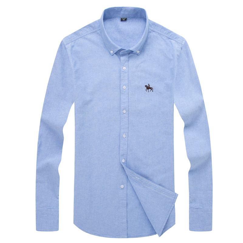 S-6XL Plus size New  OXFORD FABRIC 100% COTTON excellent comfortable slim fit button collar business men casual shirts tops 6
