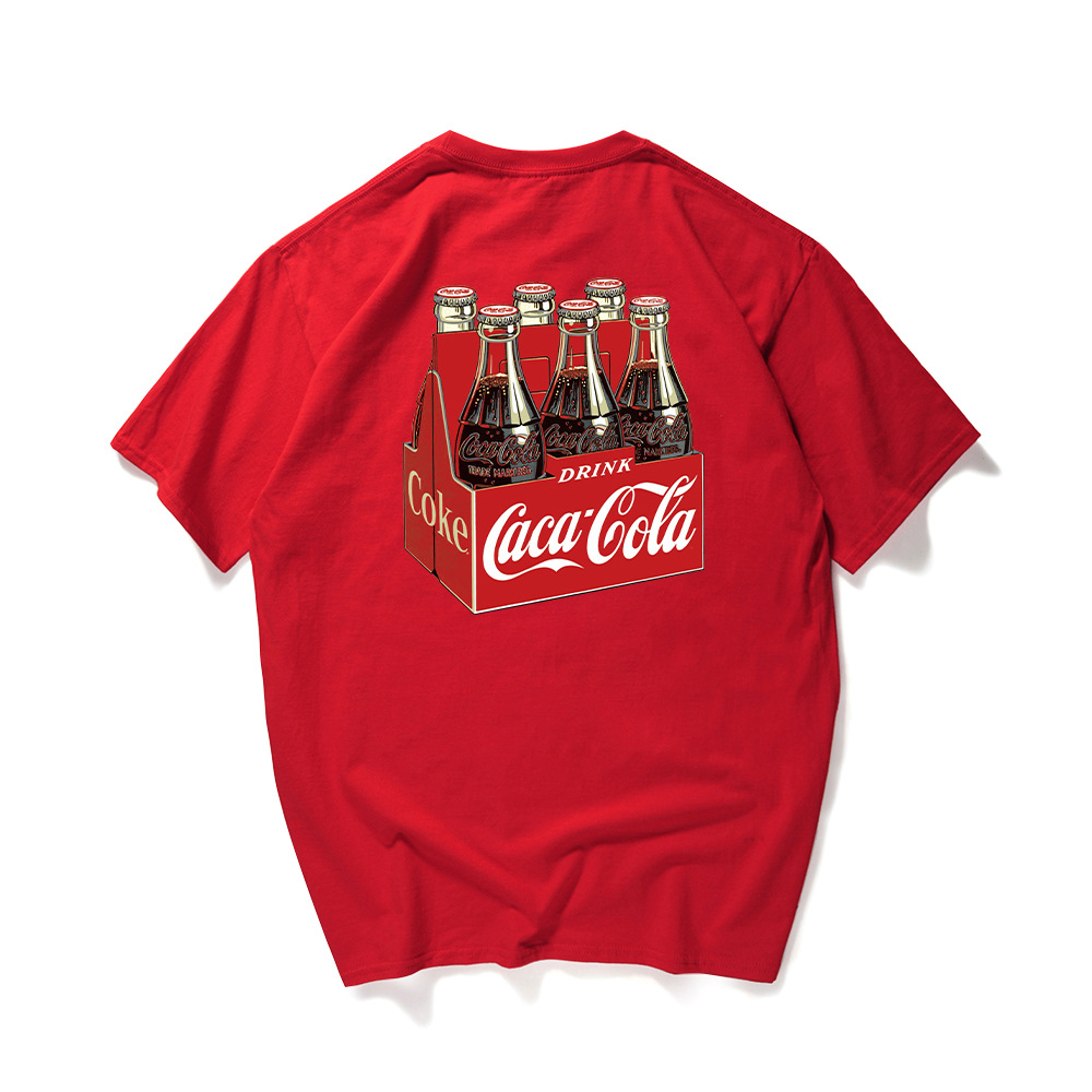 2018 Cola Printed   T  -  shirt   Fashion Man Tshirt Unisex Short Sleeve Round Neck Cotton 100% Tee   Shirt   Homme Remeras Termicas YT036