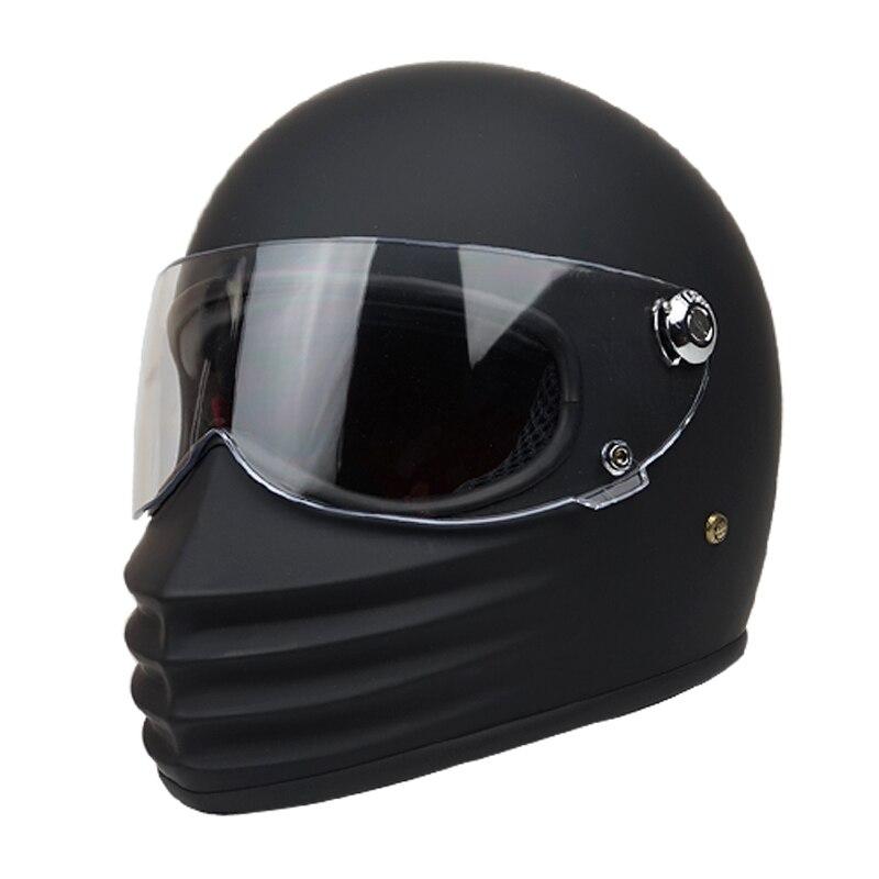TT CO TTRT moto rcycle casque avec lunettes vintage intégral rétro moto casques pour homme femmes moto rbiker fibre de verre casques