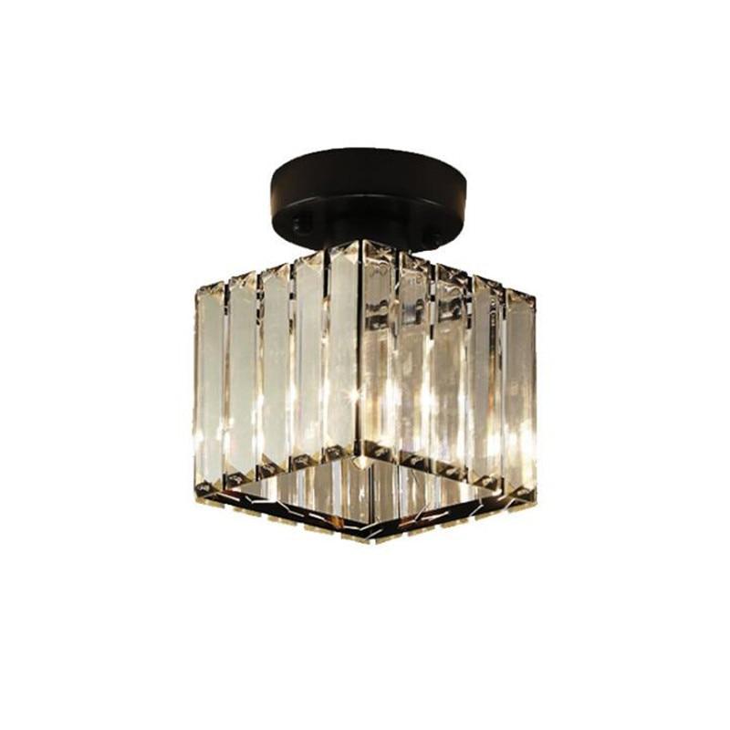Modern Simple Luxurious K9 Crystal Iron Led E14 Ceiling Light for Foyer Entrance Aisle Balcony Deco Crystal Lamp 2387Modern Simple Luxurious K9 Crystal Iron Led E14 Ceiling Light for Foyer Entrance Aisle Balcony Deco Crystal Lamp 2387