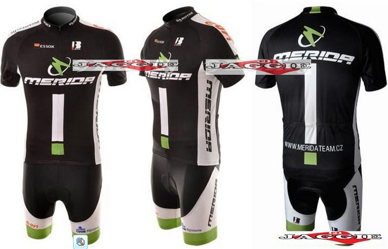 Free shipping! 2010-1 MERIDA team cycling jersey and shot / short sleeve jerseys+Z123 bike bicycle wear set COOL MAX