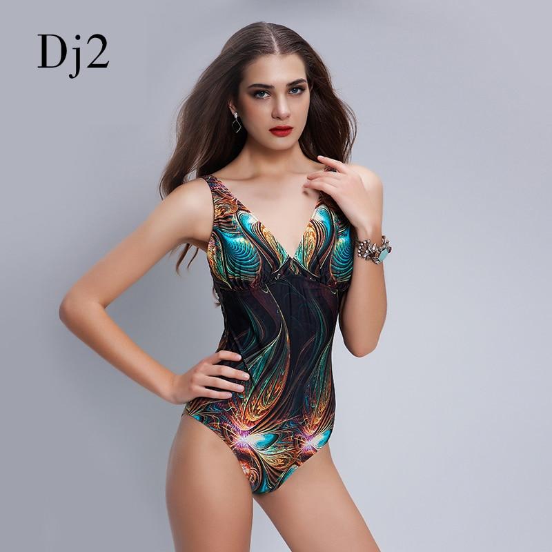 Brand Hot Sale Digital Print One Piece Swimsuit Sexy Backless Bodysuit Classic Brand Women Bathing Suit Beach Vintage Bodysuit степлер ручной rapid r253 workline rus 5000062