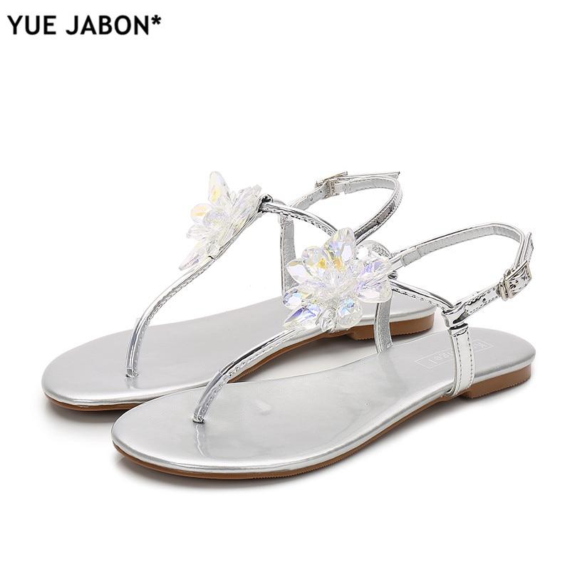 Womens Glitter Thong Open Toe T Strap Slide Flat Sandal Flip Flops Slipper Shoes