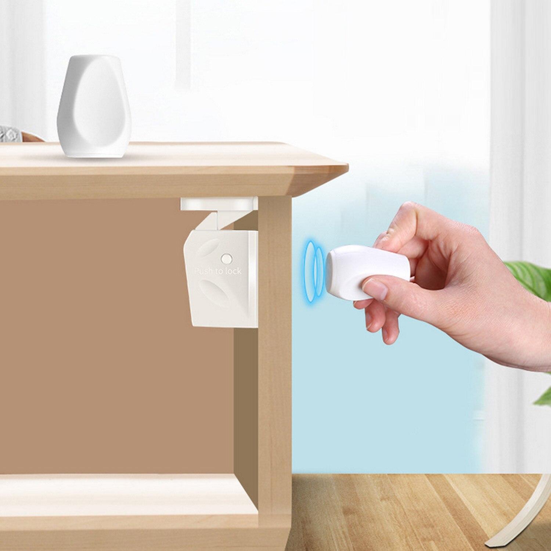 Fechaduras de Segurança bebê Magnético Invisível 4PCS