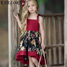 3e4bdfceec32 Keelorn niños niñas vestido de verano nuevo 2019 marca niñas ropa blanca de  manga corta de
