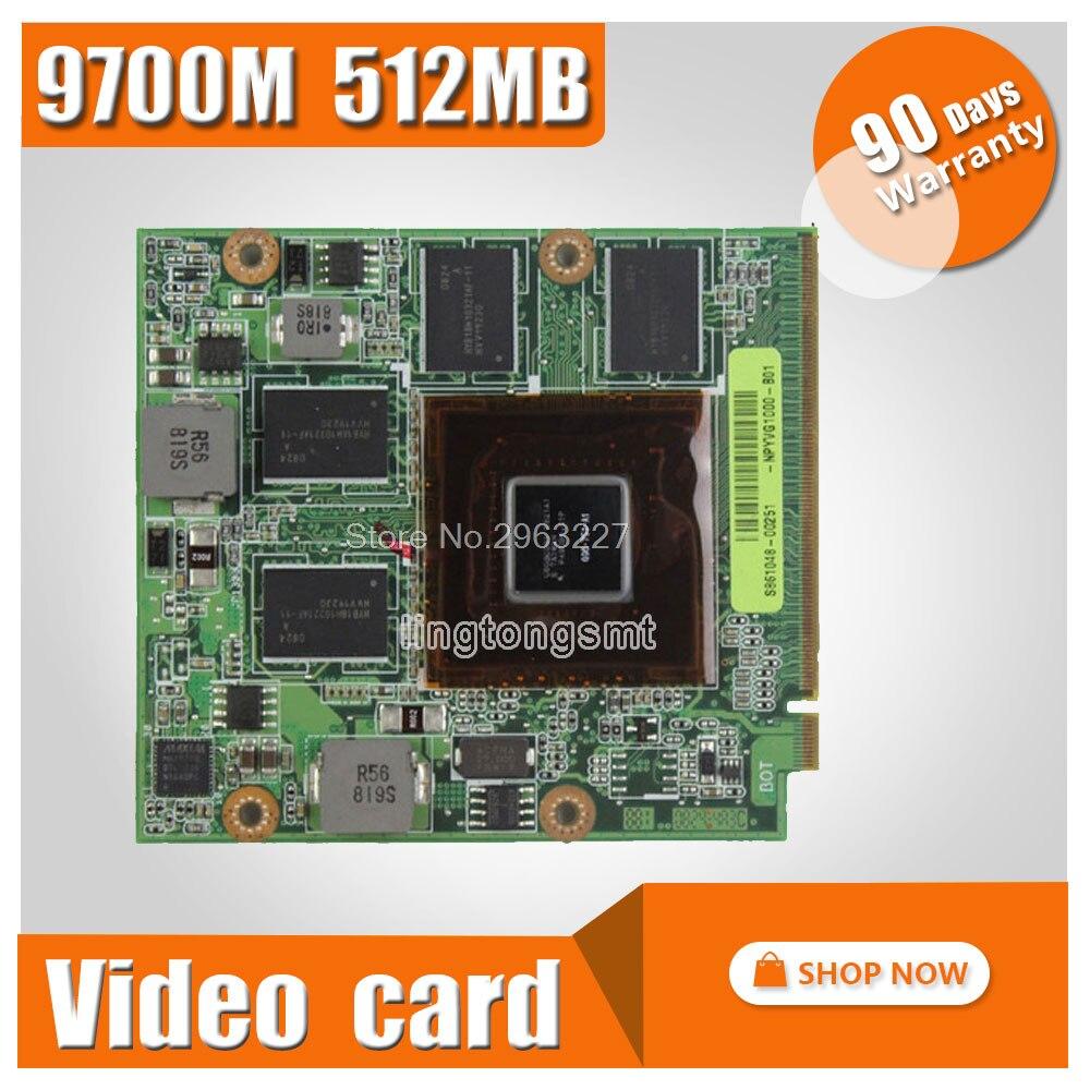 Vidéo Carte Graphique pour ASUS G50V G50VT G71V60-NPYVG1000 G50V 08G2015GV20I 08G2015GV20Q 9700 M GT G96-750-A1 DDR3 512 MO
