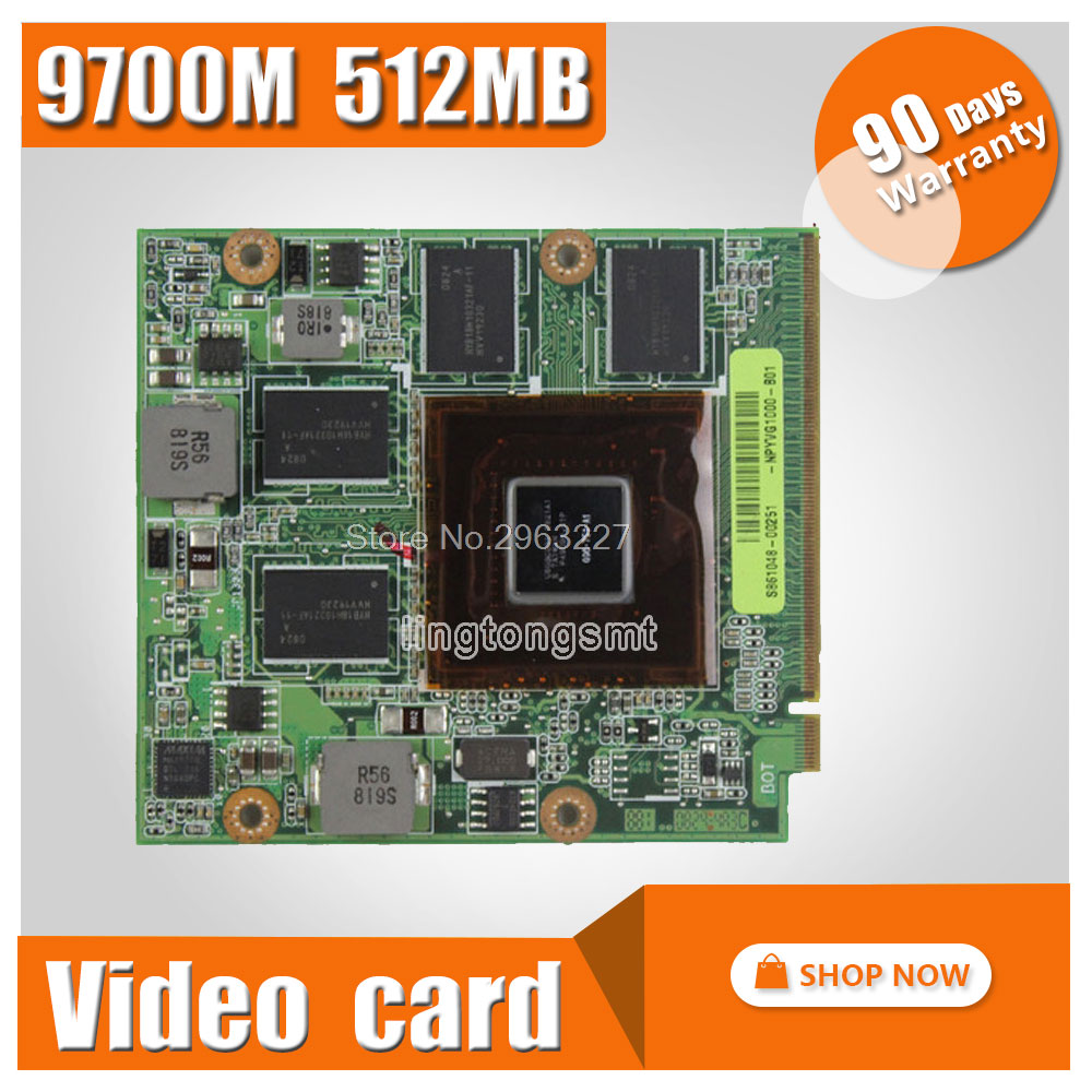 Video Card/Graphic for ASUS M50 M50V G50V G50VT G71V60-NPYVG1000 G50V 08G2015GV20I 08G2015GV20Q 9700M GT G96-750-A1 DDR3 512MB цена
