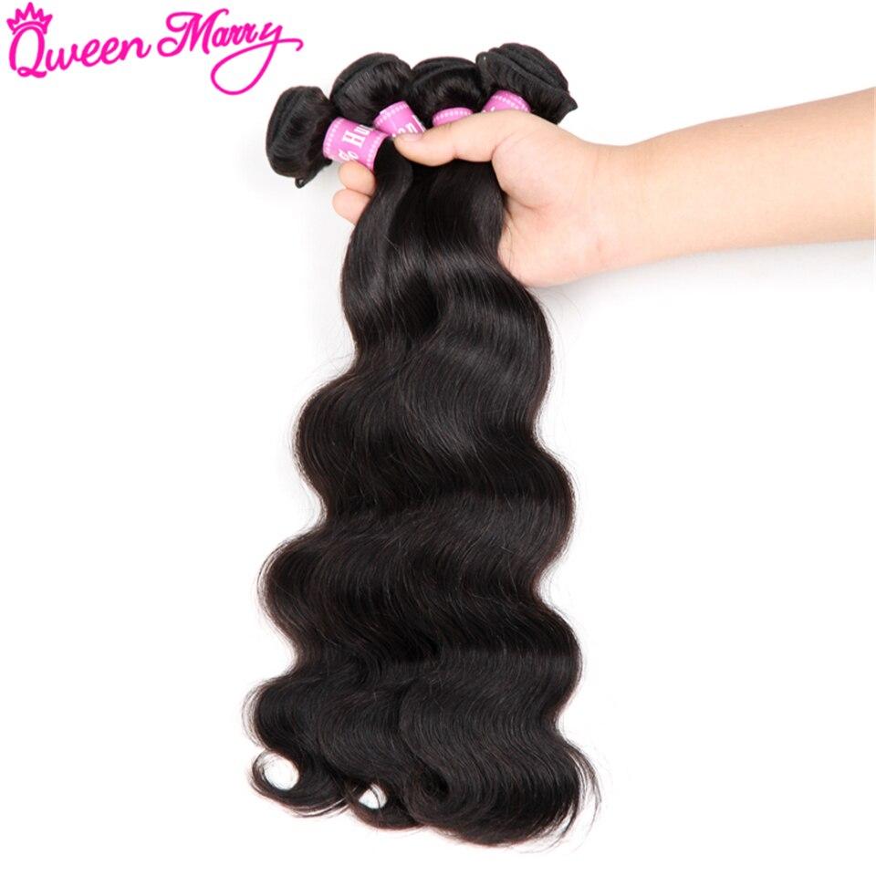 Brazilian Body Wave Bundles Brazilian Hair Weave Bundles Human Hair Weave 4 Bundle Deals Queen Mary Non-Remy Hair Extensions
