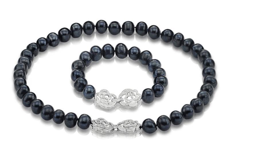 Superbe collier de perles rondes noires vertes de 9-10mm de tahiti, bracelet 18 7.5-8Superbe collier de perles rondes noires vertes de 9-10mm de tahiti, bracelet 18 7.5-8