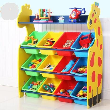 kids teens at home toy rack kids toy storage organizer children finishing storage rack solid wood home decor organization