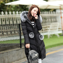 Мужские парки 2016 г. Новые Модные женские зимние вниз хлопок Женская одежда зимнее пальто куртка пальто