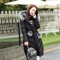 Parkas 2016 nova moda feminina inverno algodão para baixo do revestimento do revestimento das mulheres roupas de inverno casaco feminino
