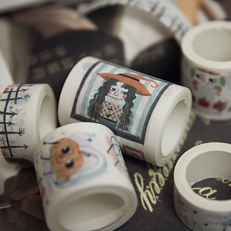 Creative Magic Witch Ghost Daily Life Decorative Washi Tape Diy Scrapbooking Masking Tape School Office Supply все цены