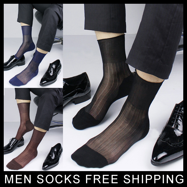 ultra thin Men dress socks Transparent sexy short men 39 s nylon socks Free shipping in Men 39 s Socks from Underwear amp Sleepwears