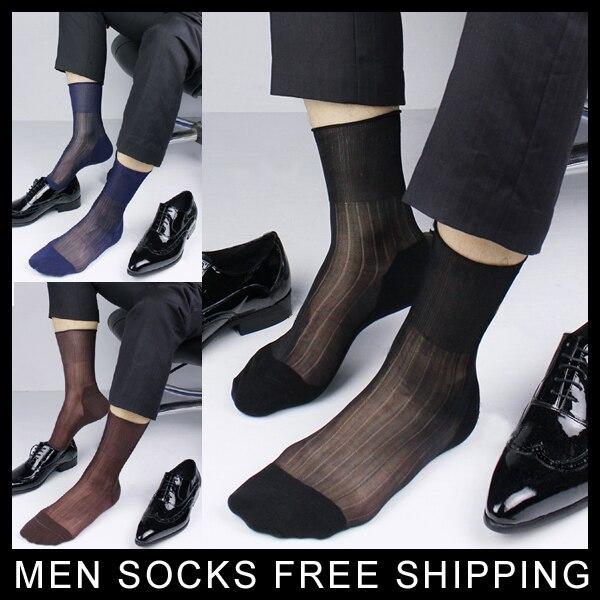 ultra-thin Men dress socks Transparent sexy short mens nylon socks Free shipping