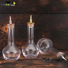 1 Piece 85ml Silver/Copper/Gold Bitters Bottle Glass Cocktail Bar Tools