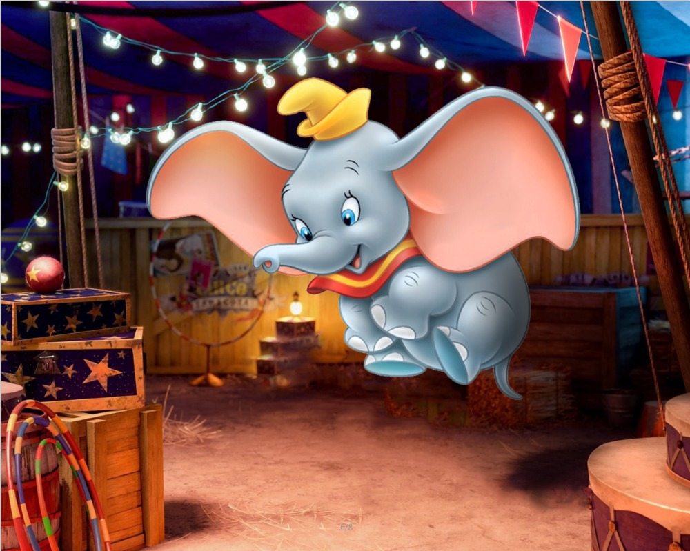 7x5ft Carnival Circus Tent Dumbo Elephant Custom Photo