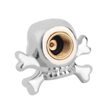 1pc Sliver Universal Pirate Skull Tyre Air Valve Stem Caps for Auto Car Truck Motorcycle Bike