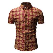 Hawaiian Shirt Mens Clothing Fashion print Casual Shirts Beach leisure Style Blouse Men New Arrival