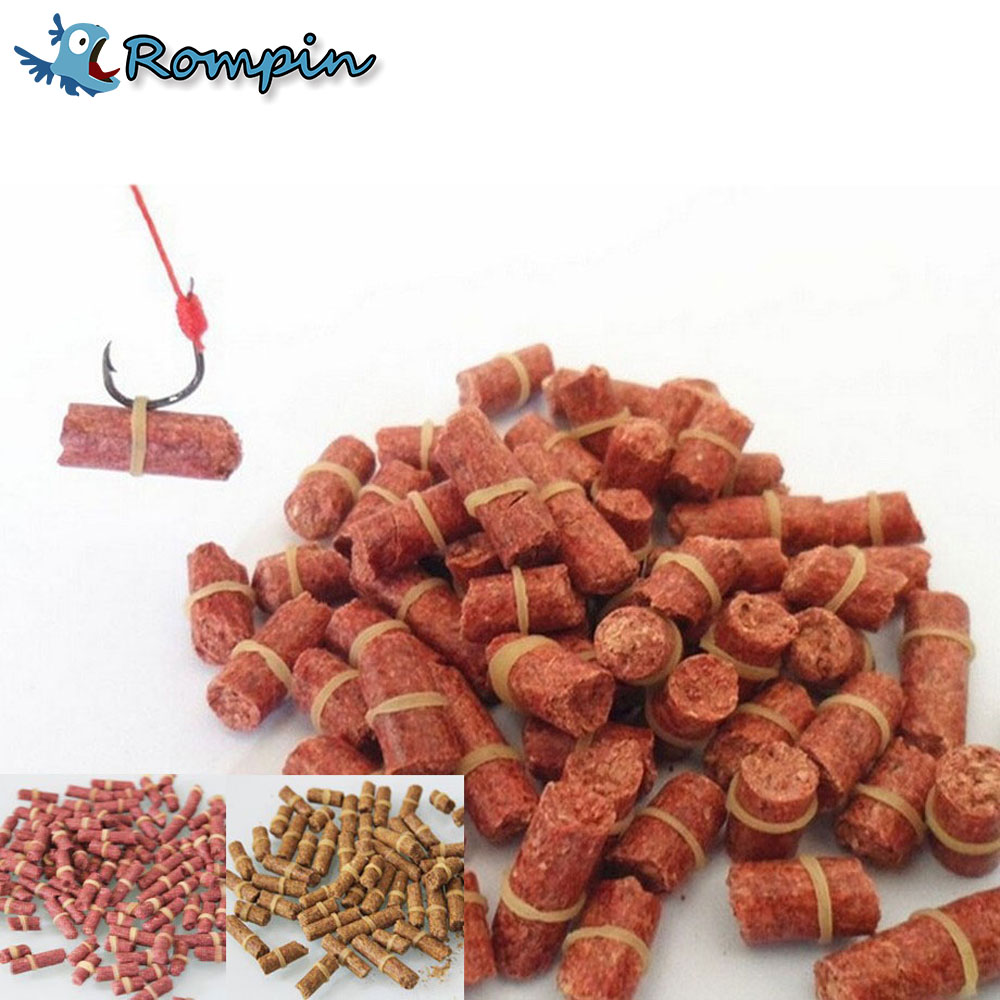 Rompin 100pcs/bag Red carp fishing bait smell Grass Carp Baits Fishing Baits lure formula insect particle rods suit particle steve j